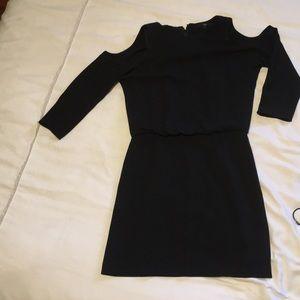 Black tibi cold shoulder mini dress